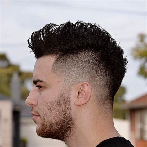 short spiked fohawk mens top 30 mohawk fade hairstyles for men