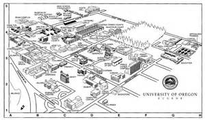 u of oregon map of oregon cus maps architecture of the