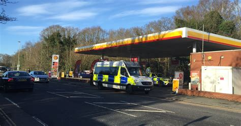 acting erratically at petrol station arrested in