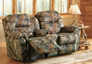 camo loveseat recliner camo reclining loveseat for the home
