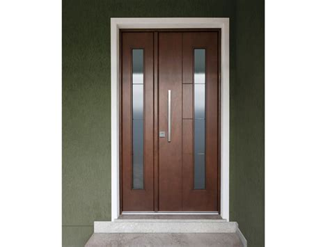 porta d ingresso con vetro porta d ingresso blindata in okoum 233 con pannelli in vetro