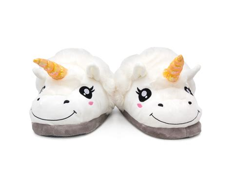 unicorn slippers cosy unicorn slippers in plush from coolstuff