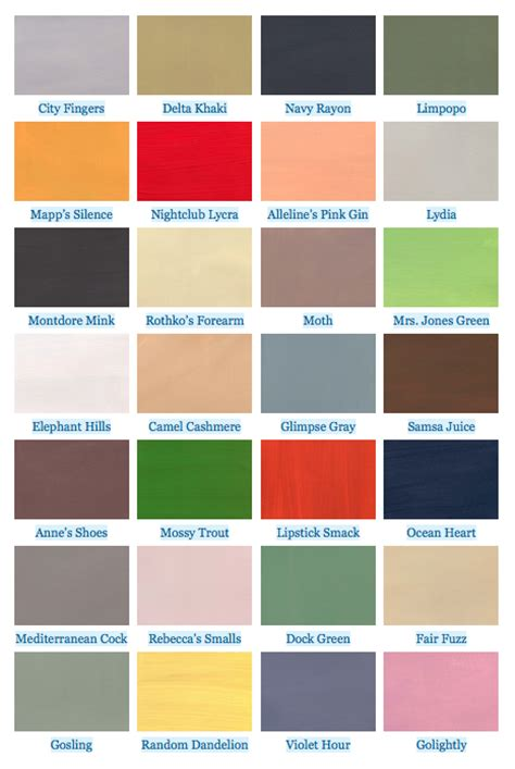 color swatches defined by literary references jeff thompson