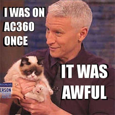 Anderson Meme - anderson cooper grumpy cat awful meme guy