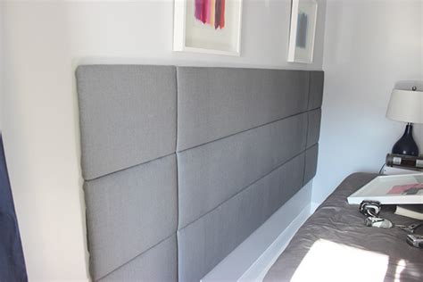 How To Hang A Headboard On Wall by Remodelaholic Diy Tufted Panel Headboard