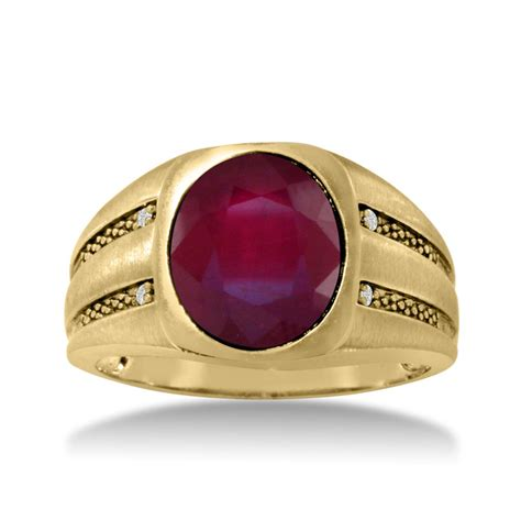 Ruby 4 2ct 4 1 2ct oval created ruby and s ring crafted