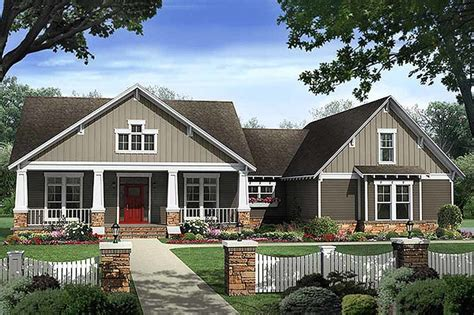 one story craftsman bungalow house plans craftsman style house plan 4 beds 2 5 baths 2400 sq ft