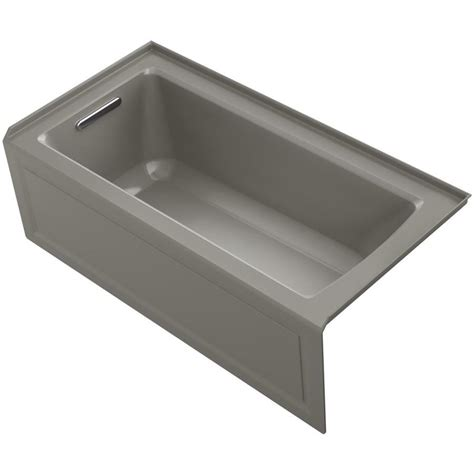 deep bathtubs 60 x 30 shop kohler archer cashmere acrylic rectangular alcove