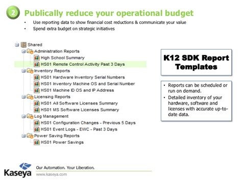 Kaseya Reports Templates Kaseya Operational It Strategic Special Edition