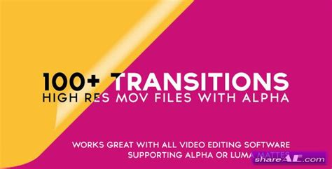 100 transitions pack after effects projects motion videohive 100 alpha transitions pack motion graphic
