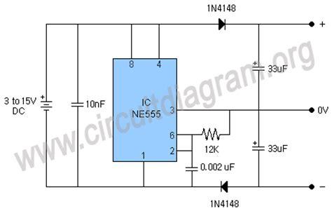 dual power supply circuit diagram dual power supply using 555 timer ic circuit diagram
