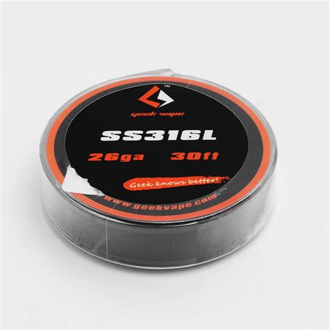 Sale Ud Ss 316l 26 Ga 30 Youde Stainless Steel 26 Awg authentic geekvape ss316l 26ga 0 4mm 10m heating resistance wire