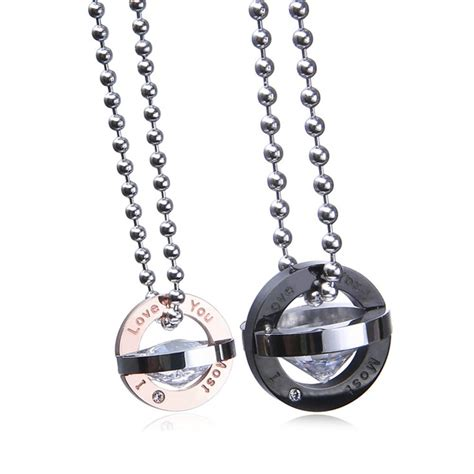 popular matching necklaces for couples buy cheap matching