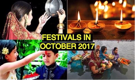 festival calendar october 2017 with holidays list of
