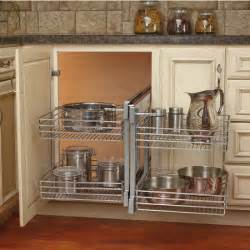 Corner Kitchen Cabinet Shelf Rev A Shelf Kitchen Blind Corner Cabinet Optimizer Maximizes Space In Blind Corner Cabinets