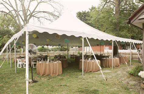 backyard tent wedding reception real wedding denise dave s sweet backyard wedding