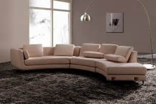 Sectionals Sofas Modern Round Leather Sectional Sofa A94 Leather Sectionals