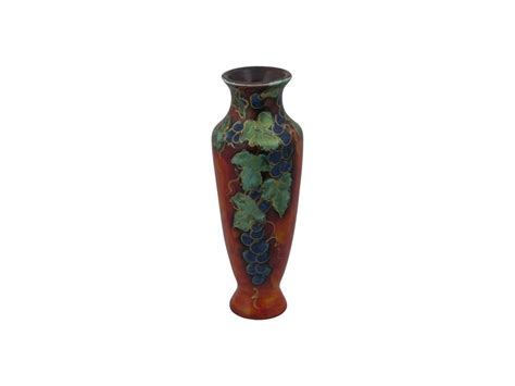 Anita Harris Art Pottery Vase Vine Design   Stoke Art Pottery