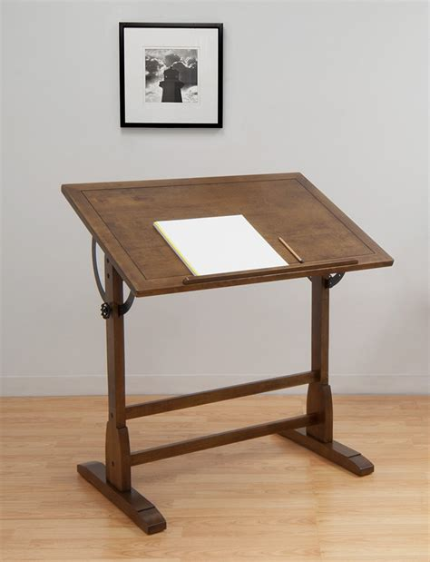 Drafting Tables Uk New Vintage Drafting Table Oak Wood Crafts Architects Design Drawing Studio Ebay