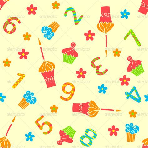 Happy Set Of 10 51 birthday patterns free psd ai eps vector format