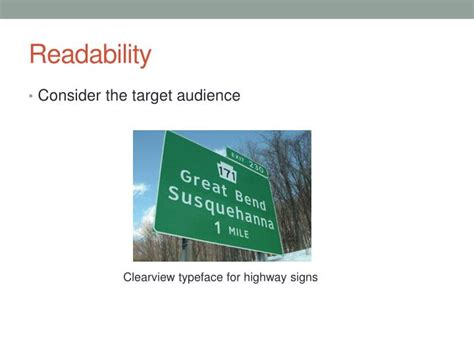 typography readability ppt typography usability readability powerpoint