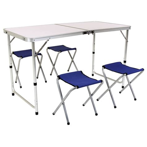 aldi folding table 2017 charles bentley foldable cing furniture set buydirect4u