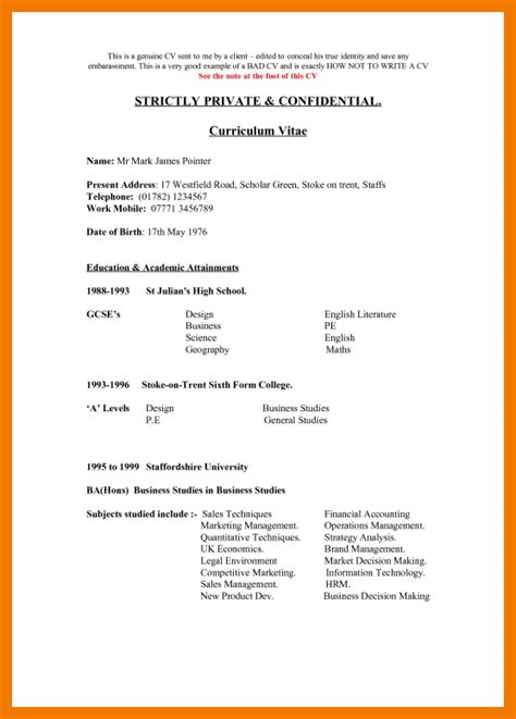 Bad Resume Exle by 4 Bad Resume Exles Pdf Mailroom Clerk