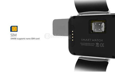 Android Smart Dm98 Rate Smartwatch Dm 98 Black dm98 3g smart phone black
