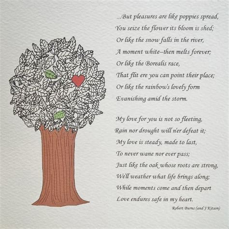 Wedding Quotes Robert Burns by Quotes About Wedding A5 Illustrated Poem