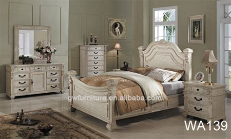 cheap antique distressed bedroom set furniture wa135