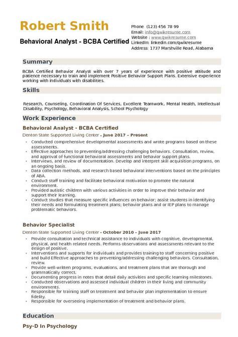 Behavior Analyst Sle Resume by Analyst Resume Sles Exles And Tips