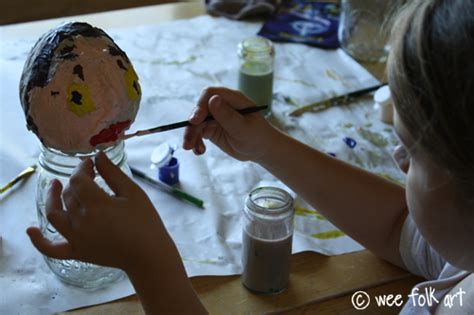 How To Make A Paper Mache Puppet - paper mache puppets part one the wee folk