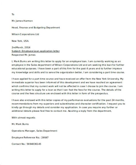 Letter Template To Mortgage Company application letter sle for loan