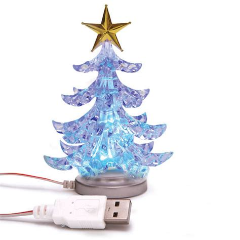 usb mini christmas tree ornament with changing led colors