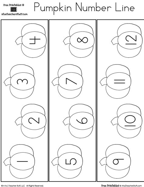 pumpkin counting coloring pages fill in the missing number pumpkin number line a to z