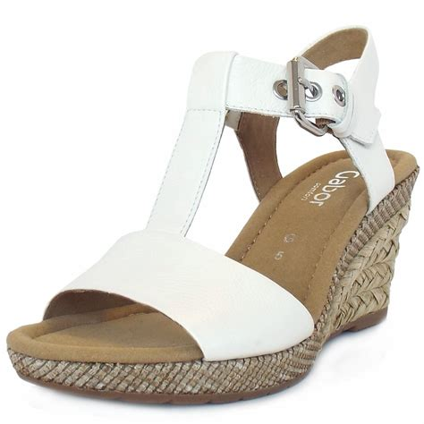 Wedges Rm 69 Wedges Belang gabor s woven effect wedge sandals in white