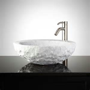 marble bathroom sinks chiseled marble vessel sink bathroom sinks