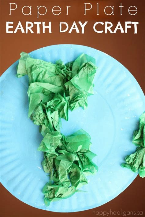 Earth Day Paper Crafts - paper plate earth day craft happy hooligans