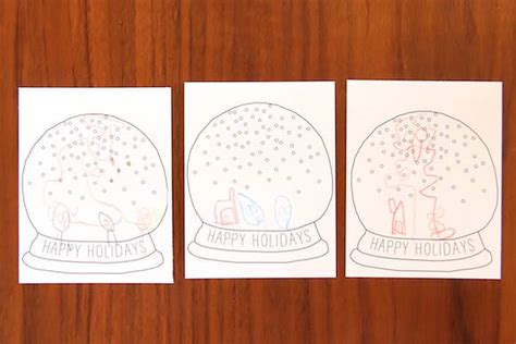 snow globe card template diy printable snow globe card handmade