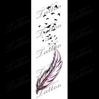 flock of birds tattoo designs marketplace flock of birds with feather 6220