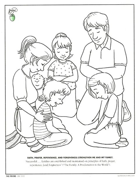 lds coloring pages fasting happy clean living primary 3 lesson 41