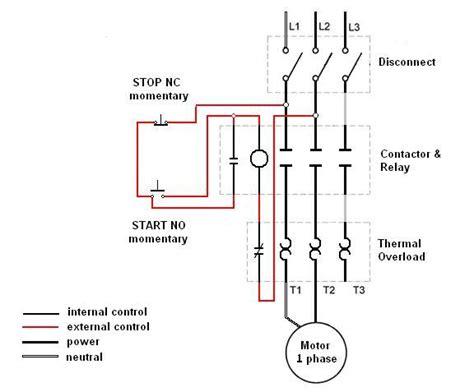3 phase motor starter relay wiring diagram allen bradley
