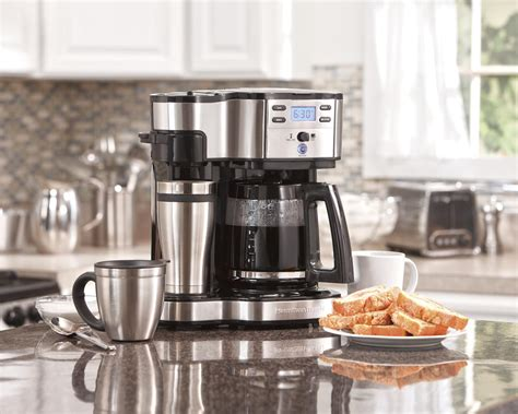 Amazon.com: Hamilton Beach Single Serve Coffee Brewer and Full Pot Coffee Maker, 2 Way (49980A