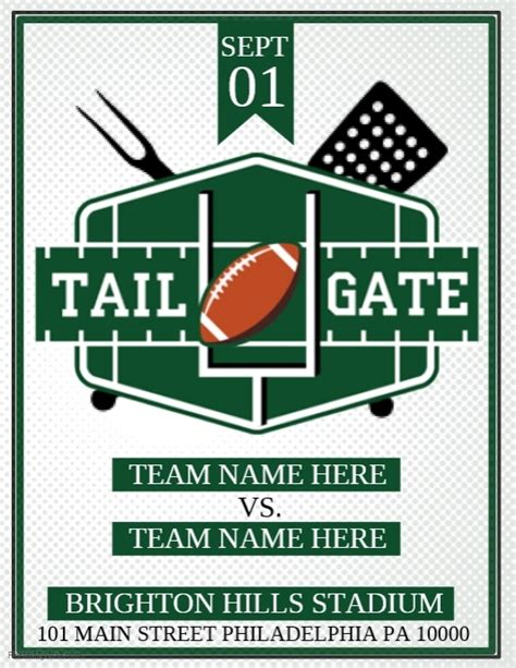 Tail Gate Template Postermywall Free Tailgate Flyer Template