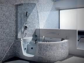 Bathroom Shower And Tub Ideas Splendid Corner Step In Whirlpool Tub With Modern Steam