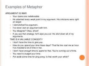 examples of metaphors alisen berde