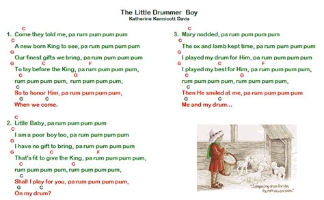 printable lyrics for the little drummer boy little drummer boy chords google zoeken boomwhackers