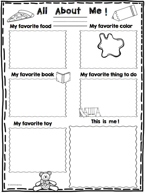 love those kinders all about me mini poster freebie