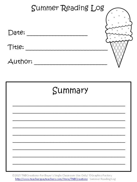 printable reading log cover page summer packets here is a fun way for students to keep