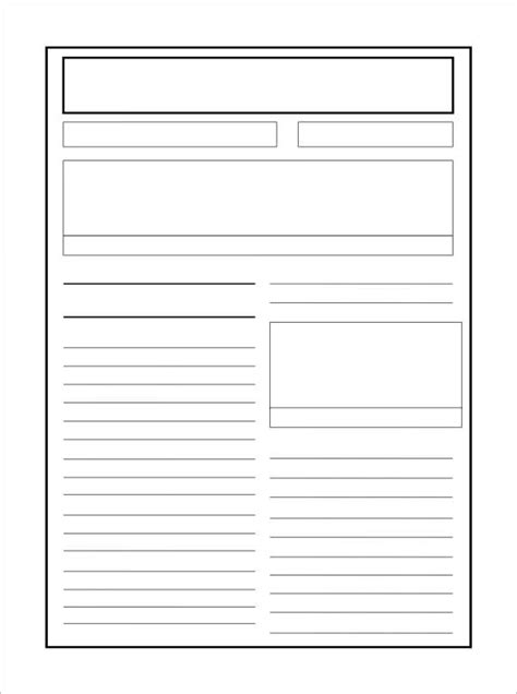 newspaper blank template the letter sle